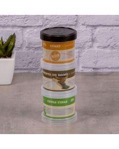 Porta Condimento Rosca 3 Peças Plasutil - Curry
