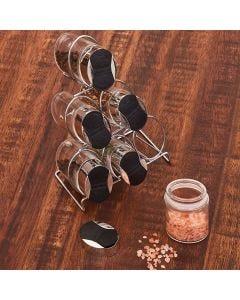 Porta Condimentos com Suporte de Ferro - Cromado
