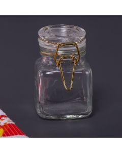 Porta Condimentos Quadrado com Trava 90ml Finecasa - Transparente