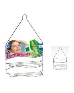 Porta Shampoo Duplo em Aço Cromado para Pendurar - Arthi - DIVERSOS