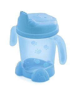 Porta Suco com Alça e Pé Urso Baby 175ml Adoleta Baby - Azul translucido