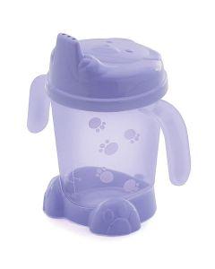 Porta Suco com Alça e Pé Urso Baby 175ml Adoleta Baby - Lilas translucido