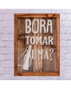 Porta Tampinha Bora Tomar Uma - Mdf