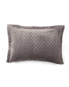 Porta Travesseiro 50cm x 70cm Plush 100% Poliéster Yaris - Ardosia