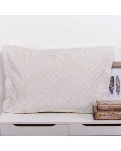 Porta Travesseiro 50cm x 70cm Plush 100% Poliéster Yaris - Duna
