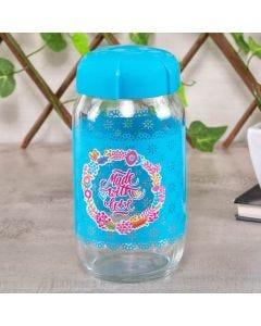Pote de Vidro Rhea 1 Litro - Azul