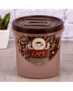 Pote para Mantimento Decorado 1,8 Litros Plasútil - Cafe