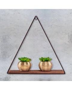 Prateleira Triangular Vintage 40cm Yaris - Preto