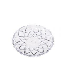 Prato De Cristal Deli 18,5X2,5Cm Lyor - Transparente