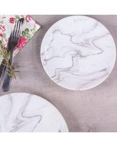 Prato De Sobremesa 20Cm Cerâmica Ege Havan - Marmore