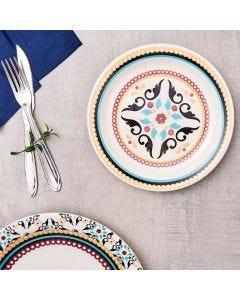 Prato de Sobremesa Floreal Luiza Oxford Daily - Ceramica