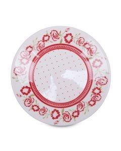 Prato de Sobremesa Rosas 19cm Biona - Ceramica