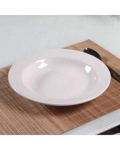 Prato Fundo 23cm Branco de Porcelana Linha Hotel - Oxford - DIVERSOS