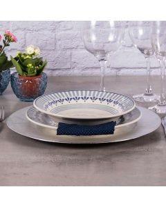 Prato Fundo Donna 22cm  - Azul