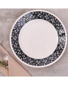 Prato Raso Arabescos 26cm Biona - Ceramica