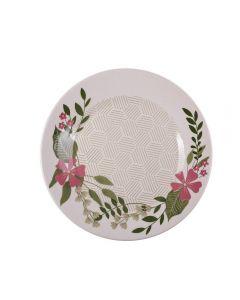 Prato Raso Biona Floralina 26Cm Oxford - Cerâmica