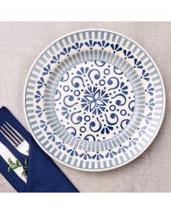 Prato Raso Donna 24cm  - Azul