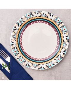 Prato Raso Floreal Luiza Oxford Daily - Ceramica