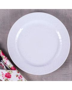 Prato Raso Folk 26,5cm Germer - Branco