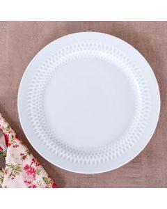 Prato Raso Oslo 26,5cm Germer - Branco