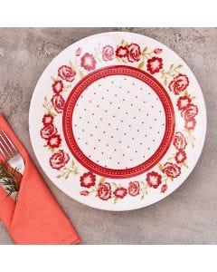 Prato Raso Rosas 26cm Biona - Ceramica
