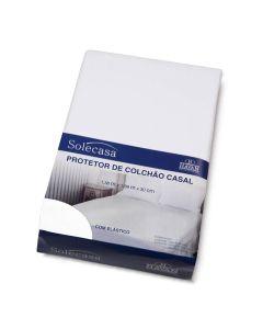Protetor Colchão Casal com Elástico Impermeável - Branco