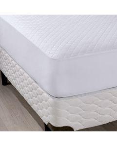 Protetor de Colchão Casal com Elástico Slip - Branco