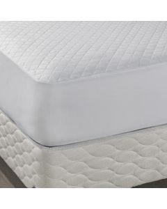 Protetor para Colchão Casal com Elástico Impermeável - Branco