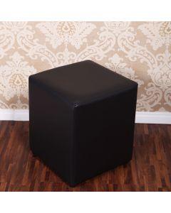 Puff Chenille para Quarto e Sala 38x38cm Havan - Preto