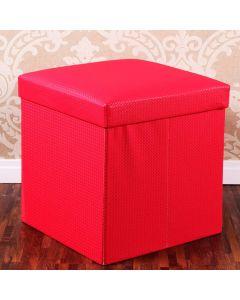 Puff Desmontável 41x41x38cm Havan - Vermelho