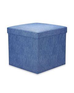Puff Desmontável 41x41x38cm Havan - Azul Jeans