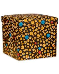 Puff Desmontável 41x41x38cm Havan - Emojis
