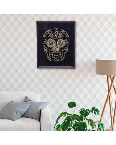 Quadro Decorativo Caveira Mexicana 20x25cm - Preto