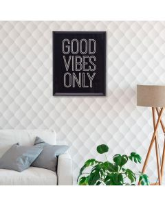 Quadro Decorativo Good Vibes 20x25cm - Preto