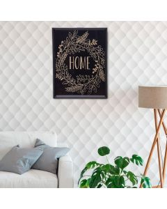 Quadro Decorativo Home 20x25cm - Preto