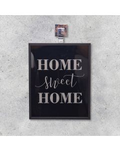 Quadro Decorativo Home 28x35cm - Preto
