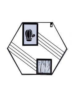 Quadro Decorativo Para Fotos 3,5X41x35cm Yaris - Preto