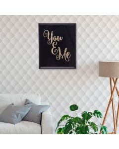 Quadro Decorativo You & Me 20x25cm - Preto