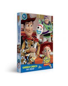 Quebra-Cabeça 100 Peças Toy Story 4 Toyster - 2630 - Colorido