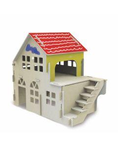 Quebra-Cabeça 3D Casinha Para Pintura Xalingo - 0524.3