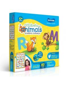 Quebra-Cabeça Alfabeto dos Animais Toyster - 2489 - Colorido