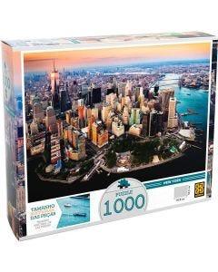 Quebra-Cabeça Cidade de New York 1000 Peças Grow - Colorido