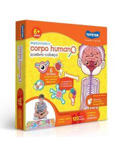 Quebra-Cabeça Explorando o Corpo Humano Toyster - 2490 - Laranja