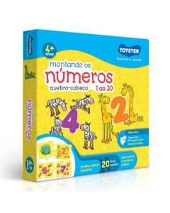 Quebra-Cabeça Montando os Números Toyster - 2047 - Amarelo