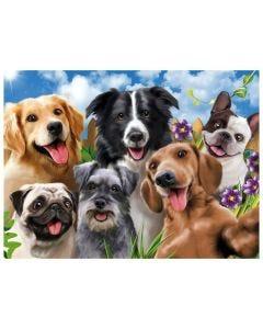 Quebra-Cabeça Selfie Pets 500 Peças Grow - 03742 - Colorido