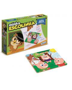Quebra-Cabeça Três Porquinhos Xalingo - Verde