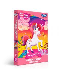 Quebra Cabeça Unicórnio 100 peças Toyster - 2573 - Colorido