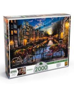 Quebra-Cabeça Verão em Amsterdã com 2000 Peças Grow - DIVERSOS