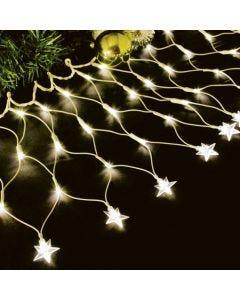 Rede Luminosa de 100 Leds com Estrela na Ponta 220V - 3000K