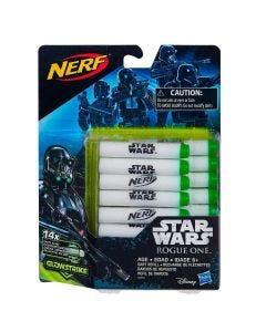 Dardos Nerf Refil 14 Dardos Glowstrike Star War Hasbro - DIVERSOS